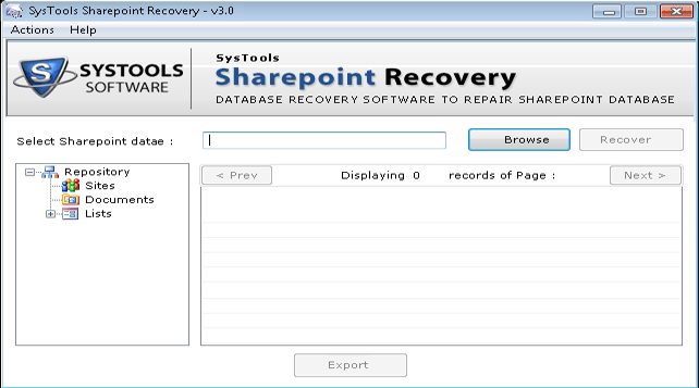 Sharepoint Recovery Software