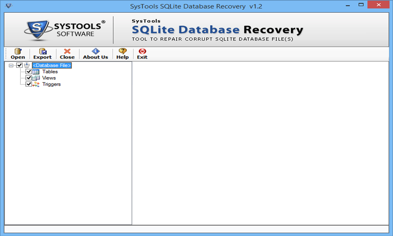 Launch Sqlite Recovery Software